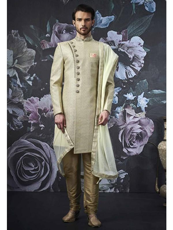 Pista Colour Men's Indo Sherwani.