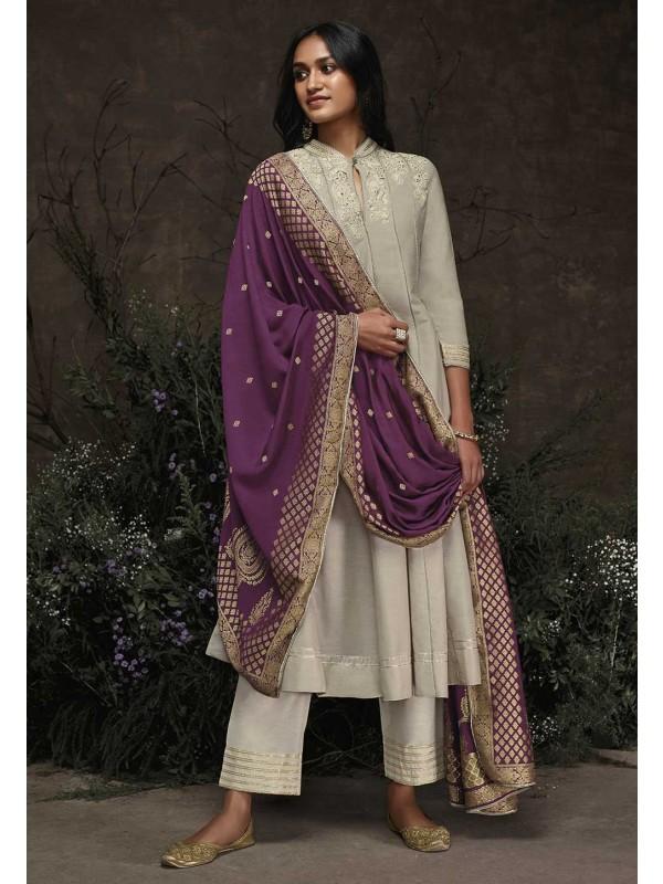 Exclusive Designer Salwar Suit Grey Colour.