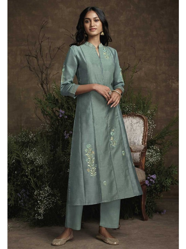 Bottle Green Colour Designer Kurti.
