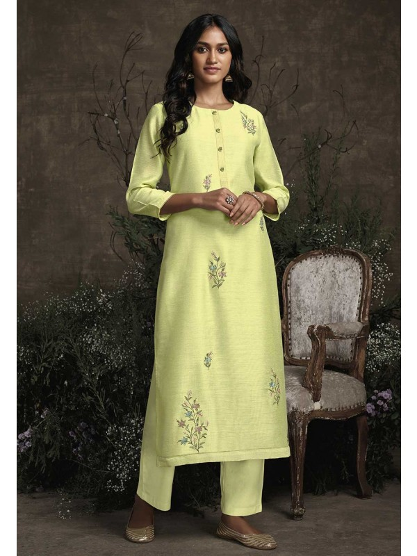 Designer Readymade Kurti Pista Green Colour.