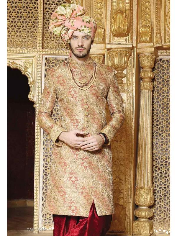 Golden Color Indian Wedding Wear.