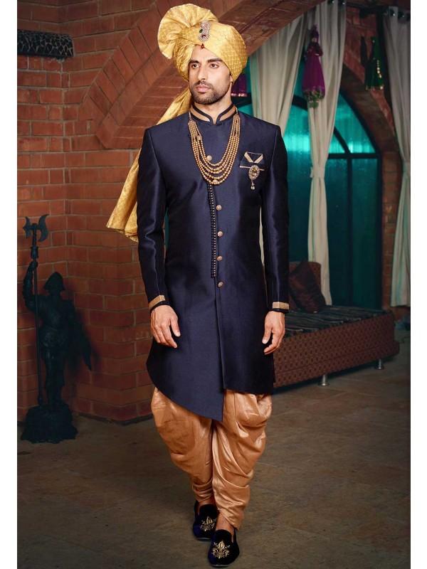Blue Colour Men's Wedding Wear.