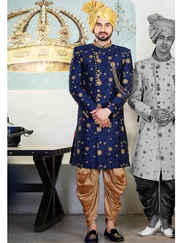 Blue Colour Indian Designer Indowestern.