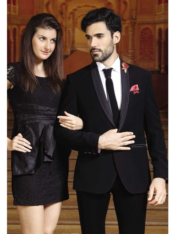 Black Color Wedding Suit For Men's.