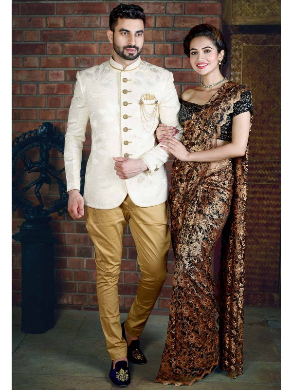 Cream Colour Jodhpuri Suit.