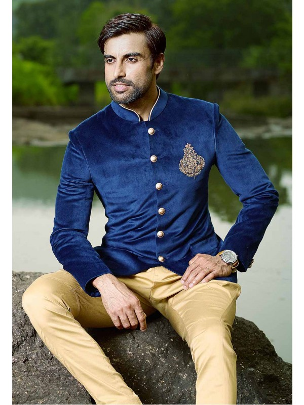 Blue Colour Jodhpuri Suit.