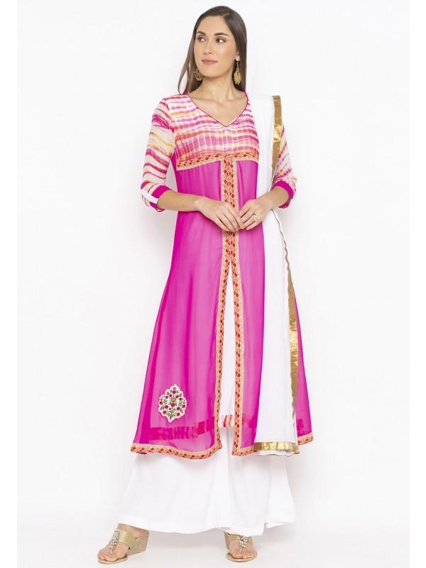 Magenta,Pink Colour Designer Salwar Suit.