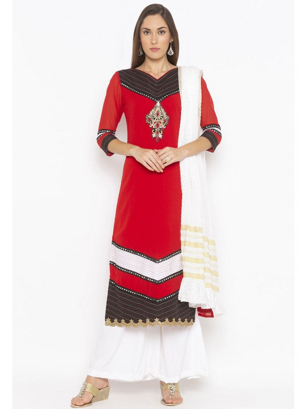 Red Colour Women Salwar Suit.