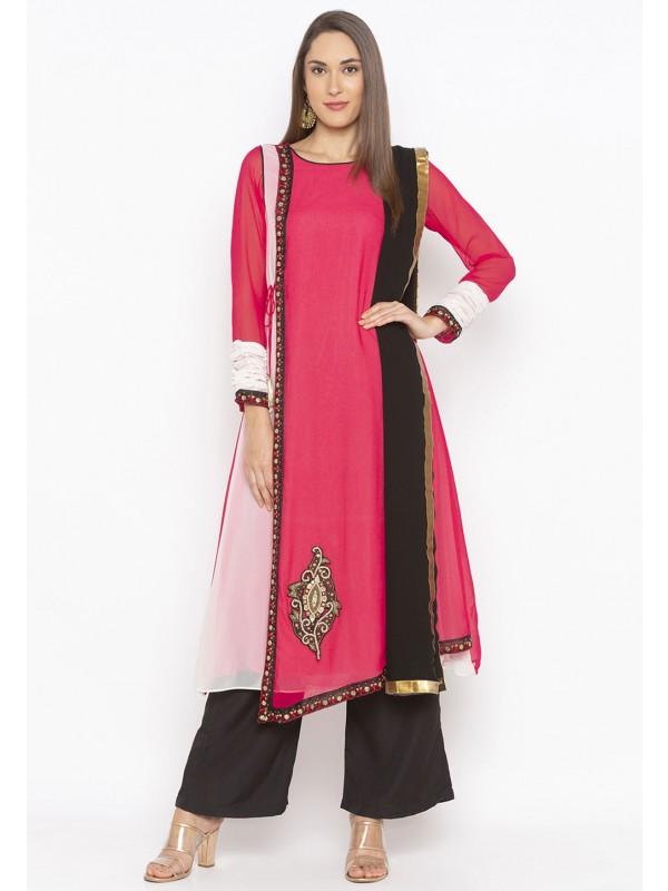 Pink Colour Embroidery Salwar Kameez.
