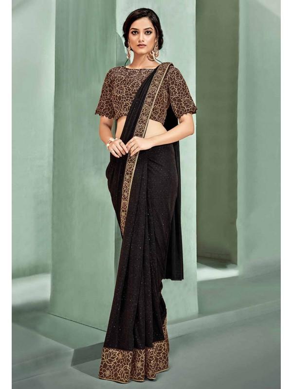Exclusive Designer Saree in Blue Colour