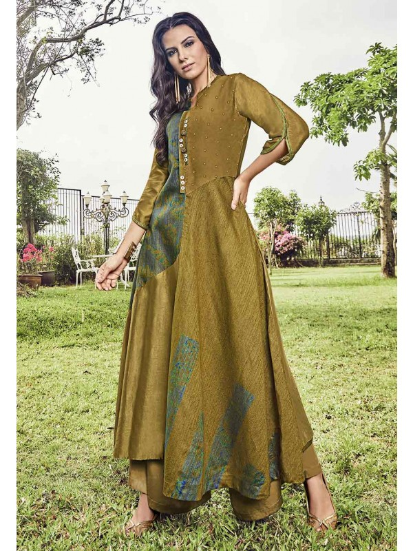 Green Color Stylish Designer Kurti.