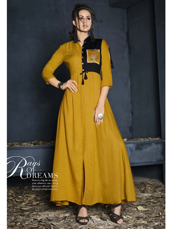 Yellow Color Cotton Kurti.
