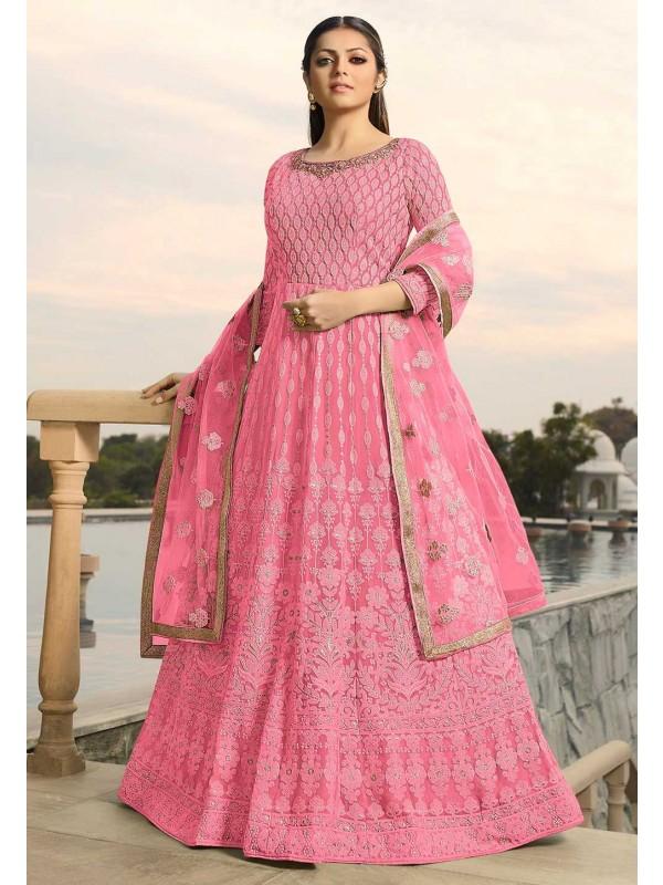 Pink Colour Designer Salwar Suit.