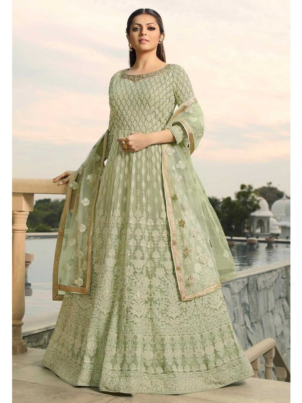 Green Colour Georgette Indian Salwar Suit.