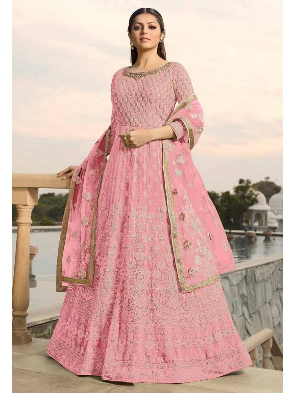 Pink Colour Georgette Designer Salwar Suit.