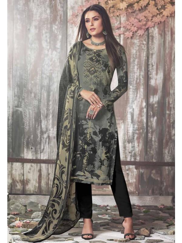 Black,Cream Colour Salwar Suit.