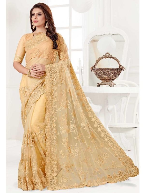 Yellow Colour Indian Wedding Saree.