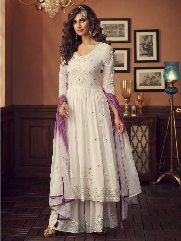 Off White Colour Designer Salwar Kameez.