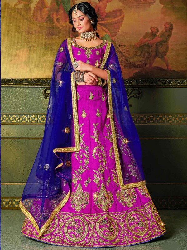 Pink Colour Silk Designer Lehenga Choli.