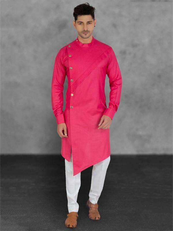 Cotton Fabric Men's Kurta Pajama.