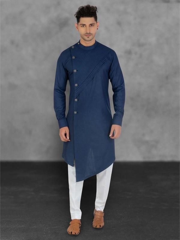 Cotton Kurta Pajama Blue Colour.