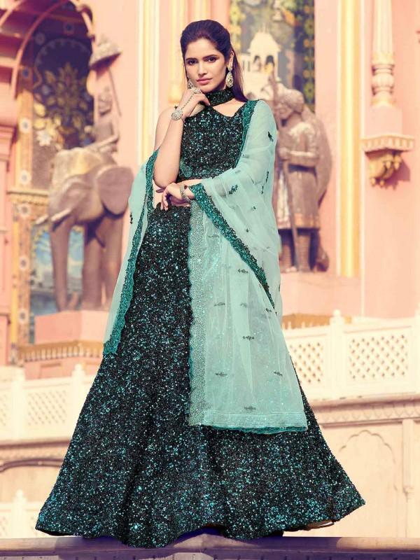 Black Colour Lehenga Choli in imported Fabric.
