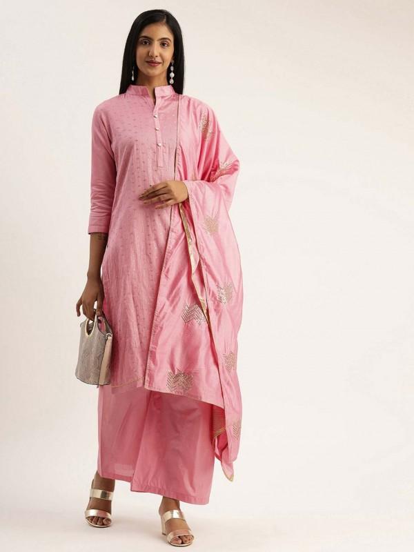 Cotton Salwar Kameez in Pink Colour.