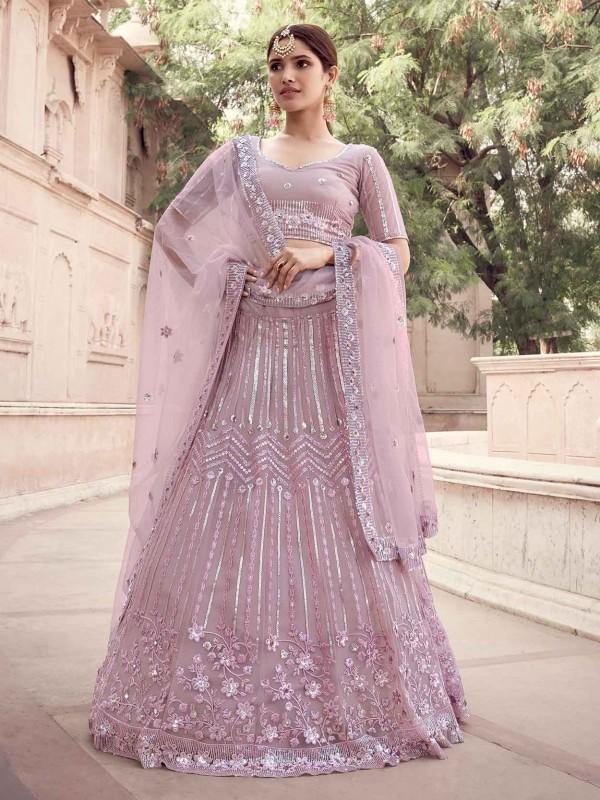 Light Pink Colour Party Wear Lehenga Choli.
