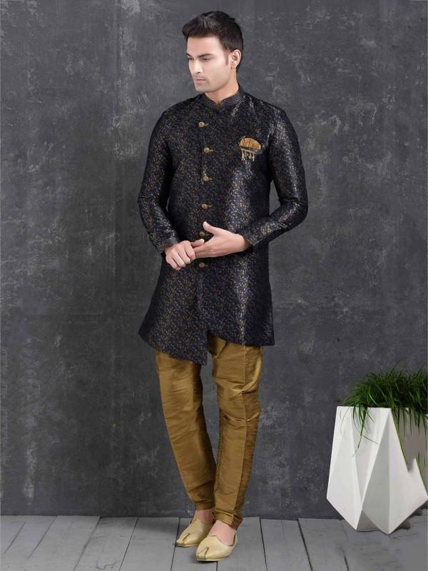 Designer Men's Indowestern Blue Colour.