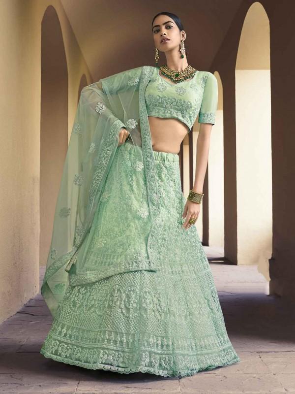 Mauve Colour Net Designer Women Lehenga Choli.
