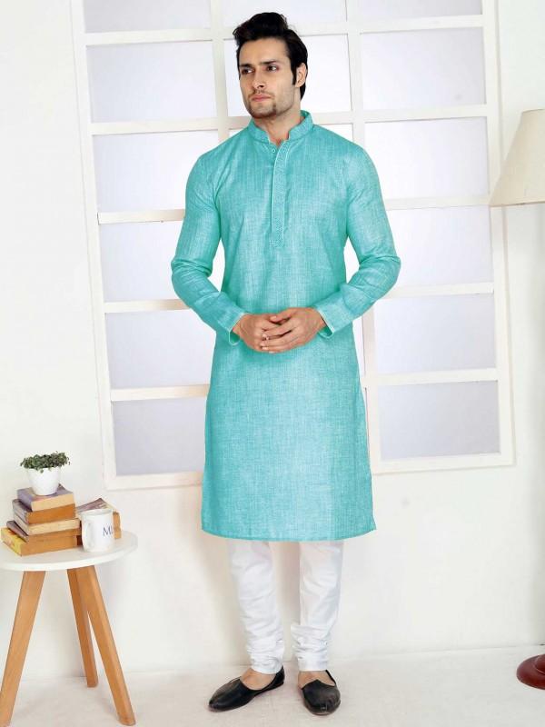 Cotton Kurta Pajama Sky Blue Colour.