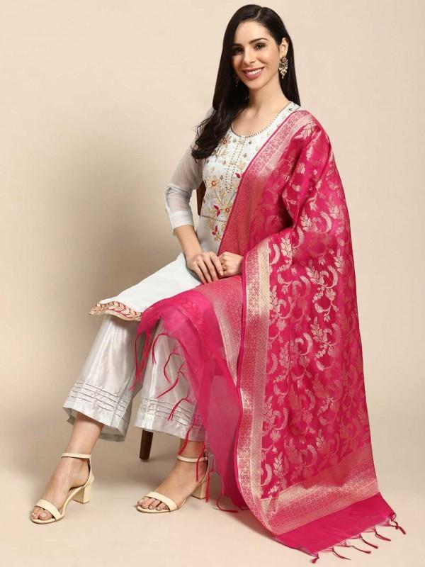 Sky Blue Colour Silk Casual Salwar Suit.