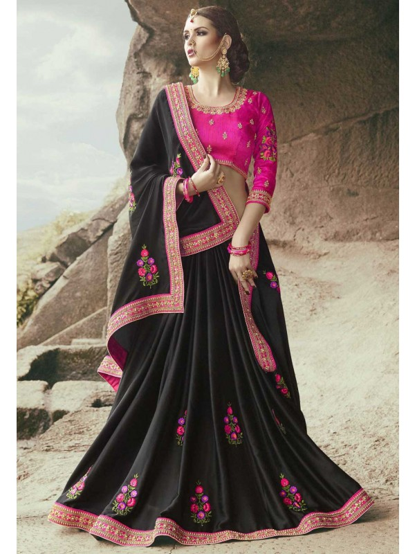 Black Color Georgette Saree