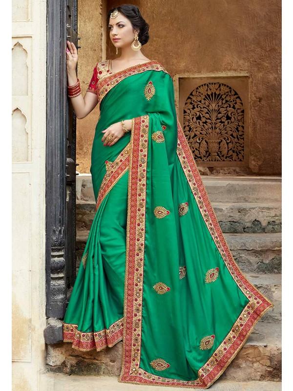 Green Color Party Wear Saree