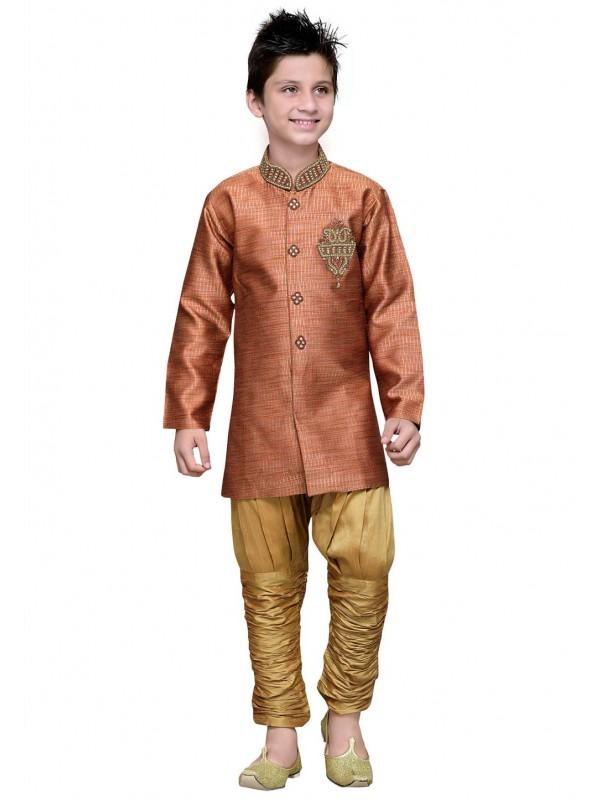 Orange Color Boy's Readymade Kurta Pajama.
