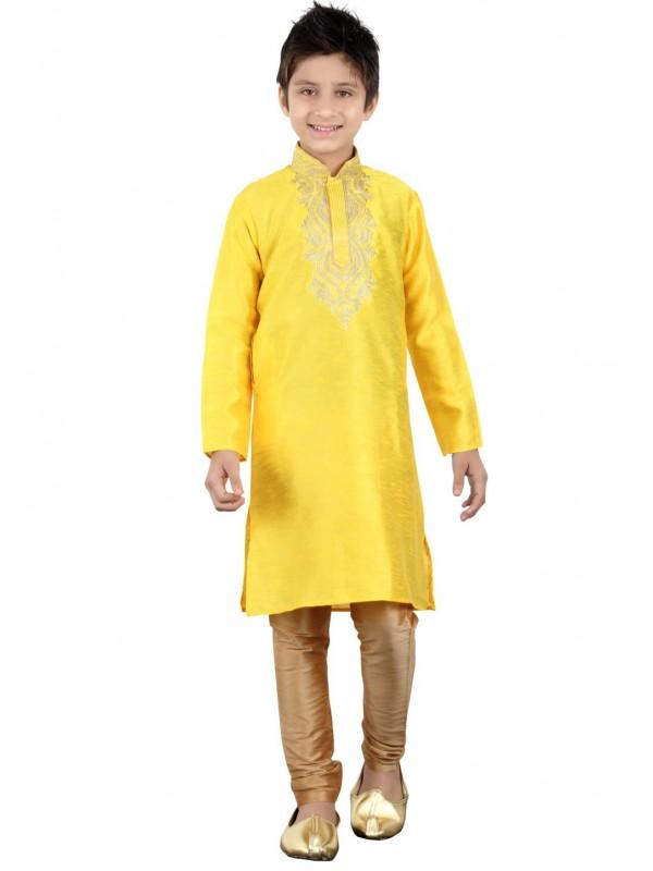 Yellow Color Boy's Readymade Kurta Pajama.