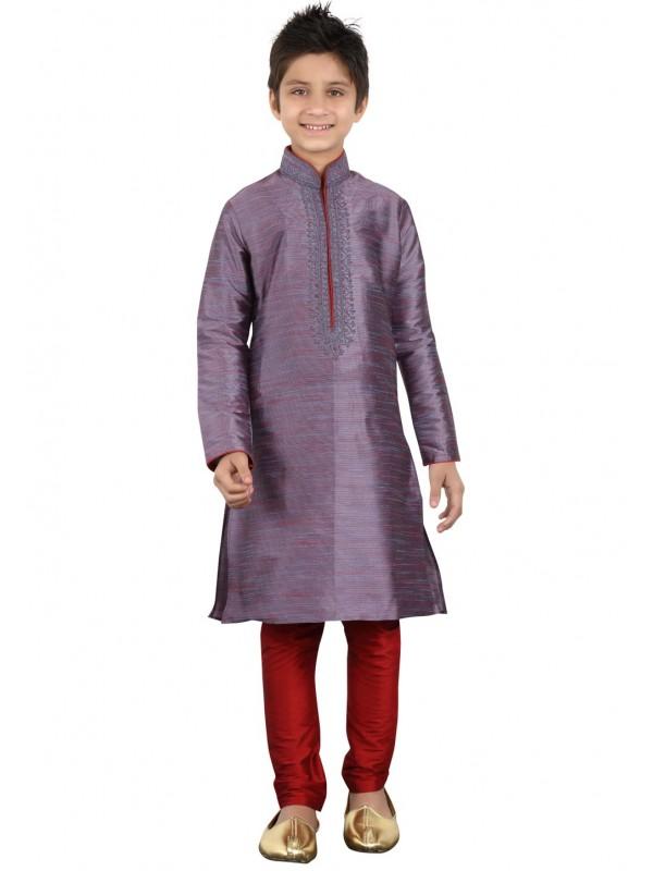 Grey Color Cotton Kurta Pajama.