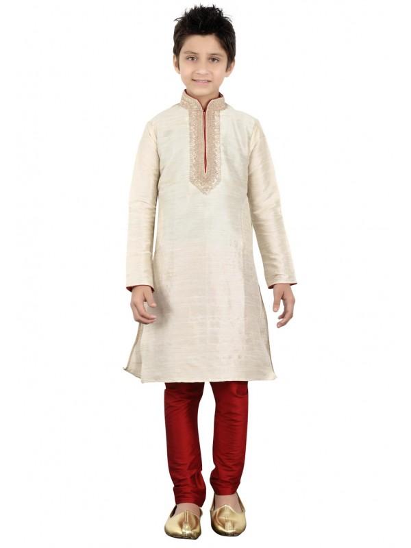 Off White Color readymade Kurta Pajama.