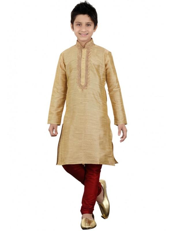 Cream Color Boy's Kurta Pajama.