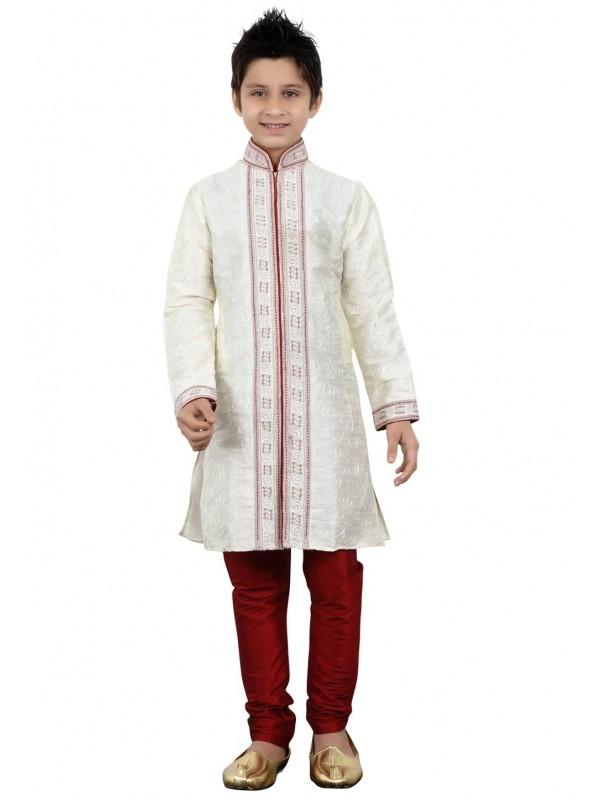 White Color Cotton Kurta Pajama.
