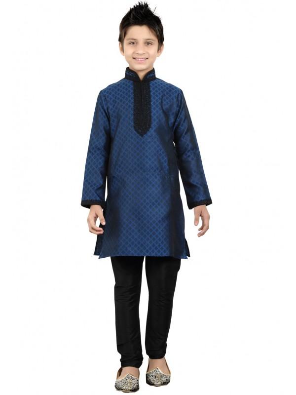 Blue Color Boy's Readymade Kurta Pajama.