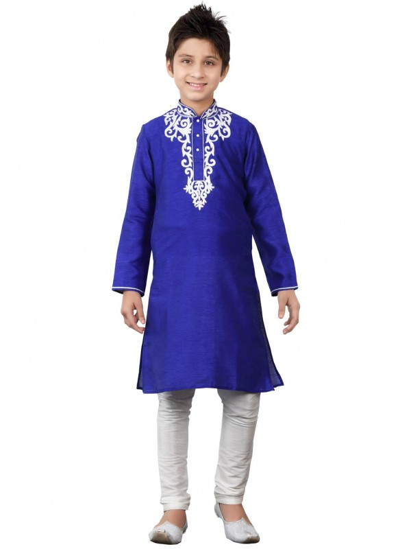 Blue Color Boy's Kurta Pajama.