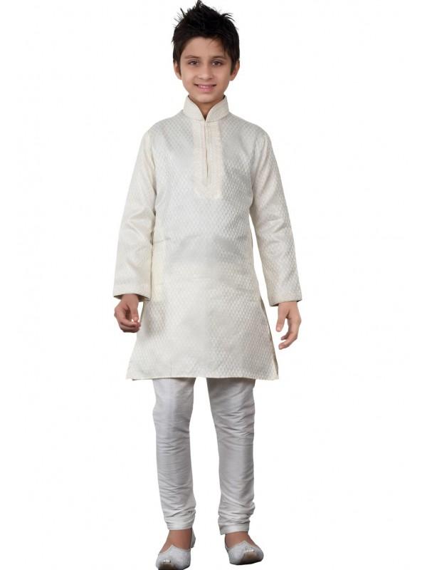 Off White Color Boy's Readymade Kurta Pajama.