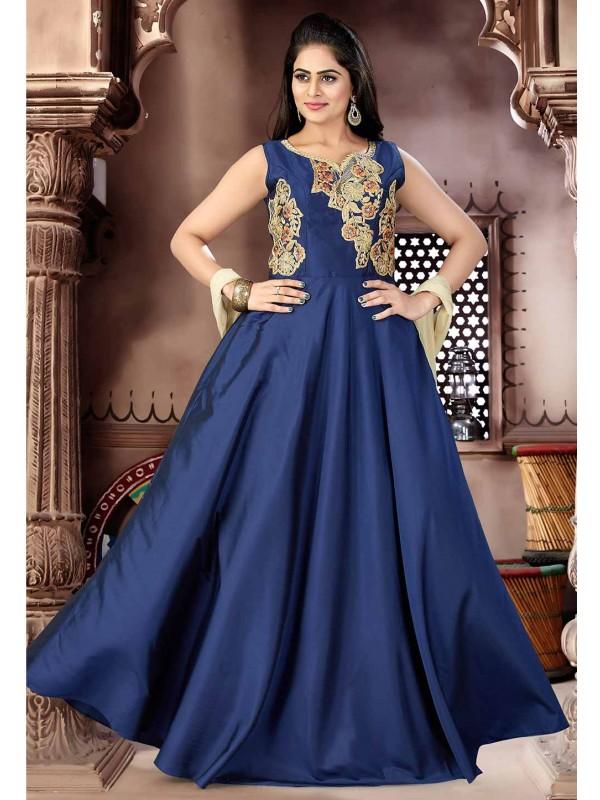 Blue Color Readymade Salwar Kameez.