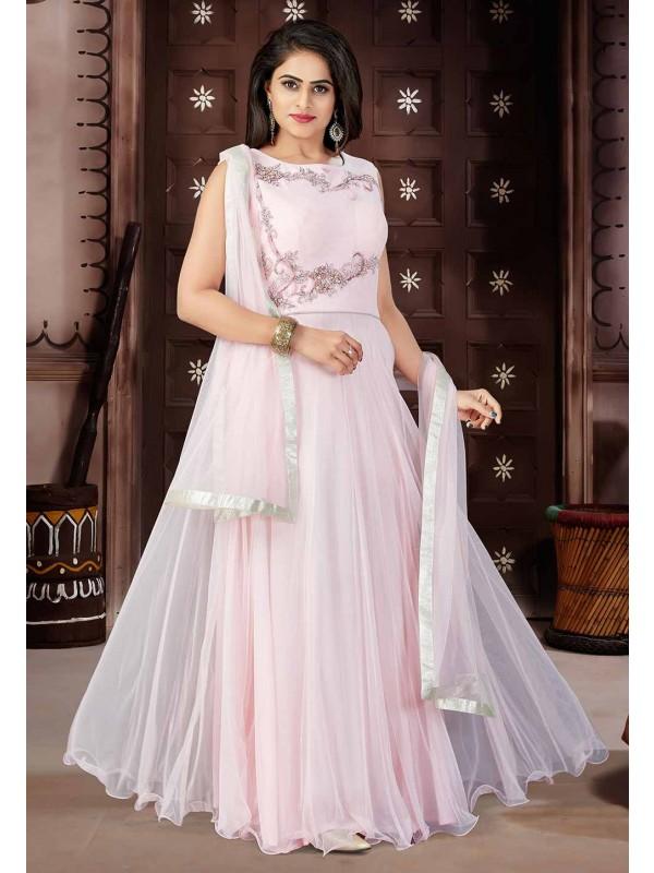 Pink Color Party Wear Salwar Kameez.