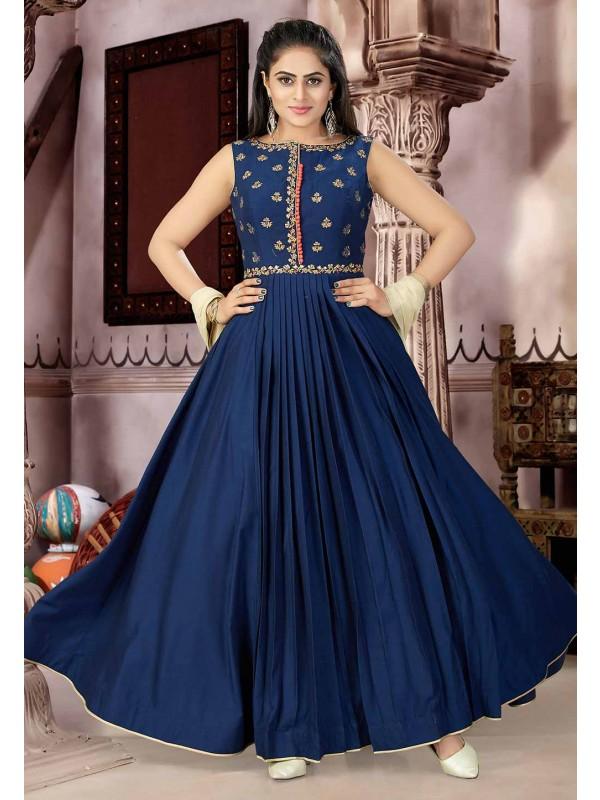 Blue Color Designer Salwar Suit.