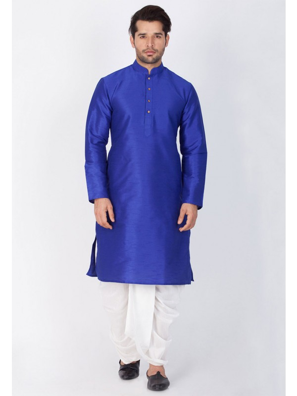Blue Color Party Wear Dhoti Kurta.