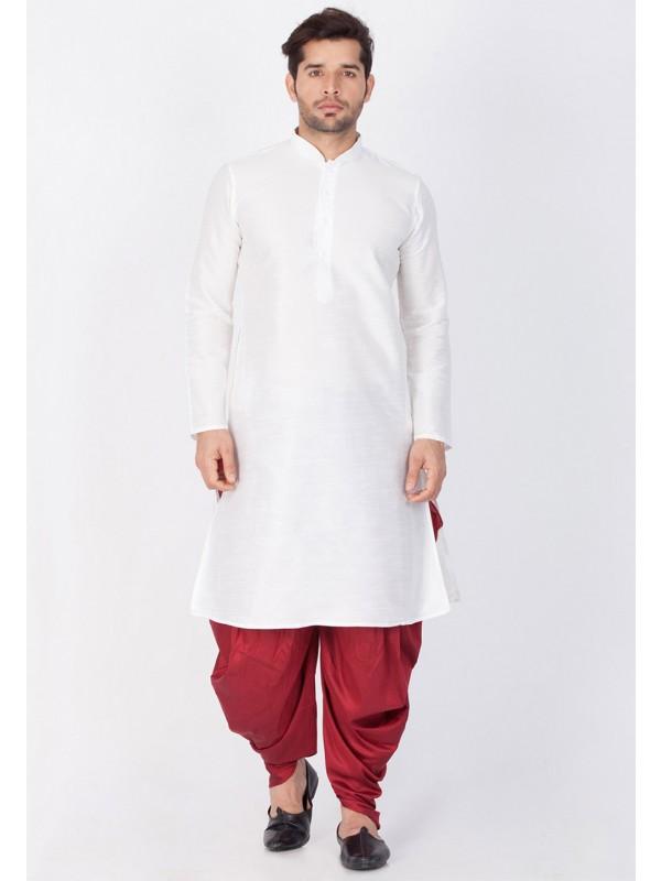 White Color Dhoti Kurta.