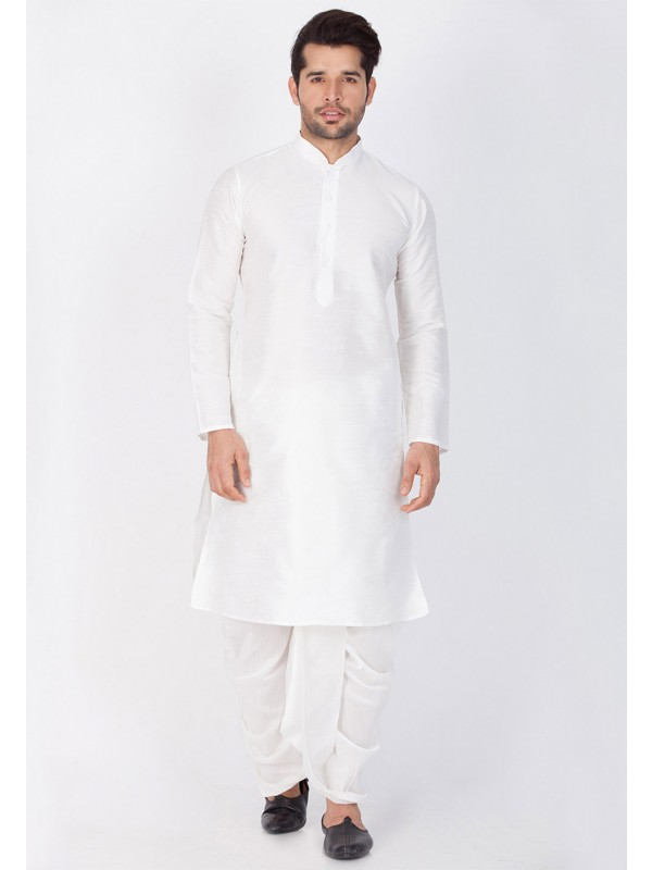 Exquisite White Color Dhoti Kurta.