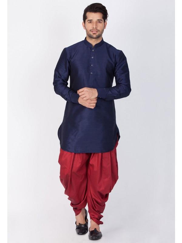 Blue Color Readymade Dhoti Kurta.